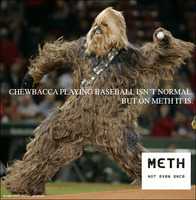 the wookie plays baseball