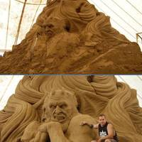 badass sand sculpture