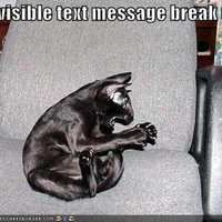 invisible text message break up