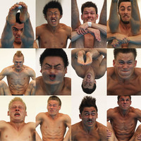 diving faces