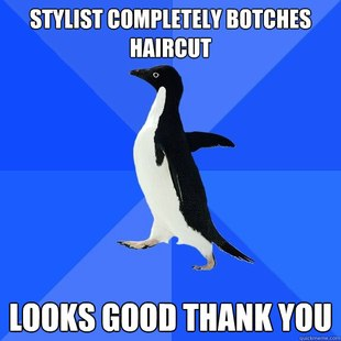 stylist botches haircut