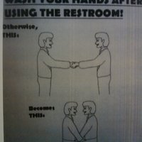 wash  hands restroom