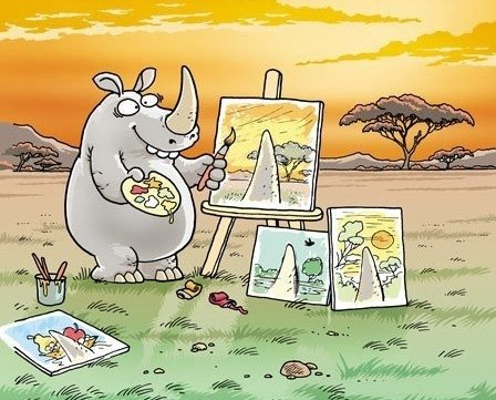 rhino paints well