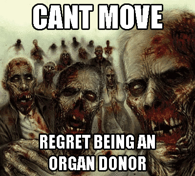 zombie regrets being an organ donar - pichars.org