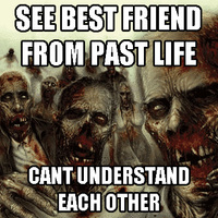 see friend from past life, and we can't talk to eachother