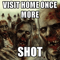 visit home and get shot