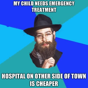 Excuse me officer, where's the nearest Jewish hospital?