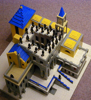 escher waterfall lego