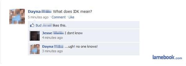 what does idk mean?