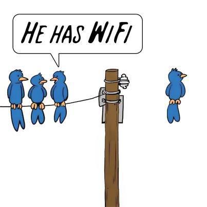 He has wifi - pichars.org