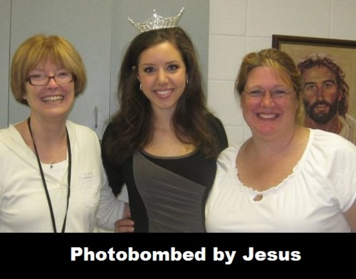 photobombed by jesus