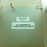 NO LAUGHING AT OTHER PEOPLE'S FARTS