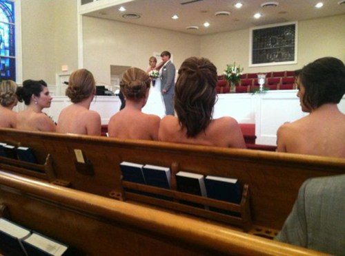 Naked wedding?